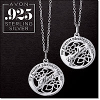 Avon Sterling Silver My Blessings Necklace