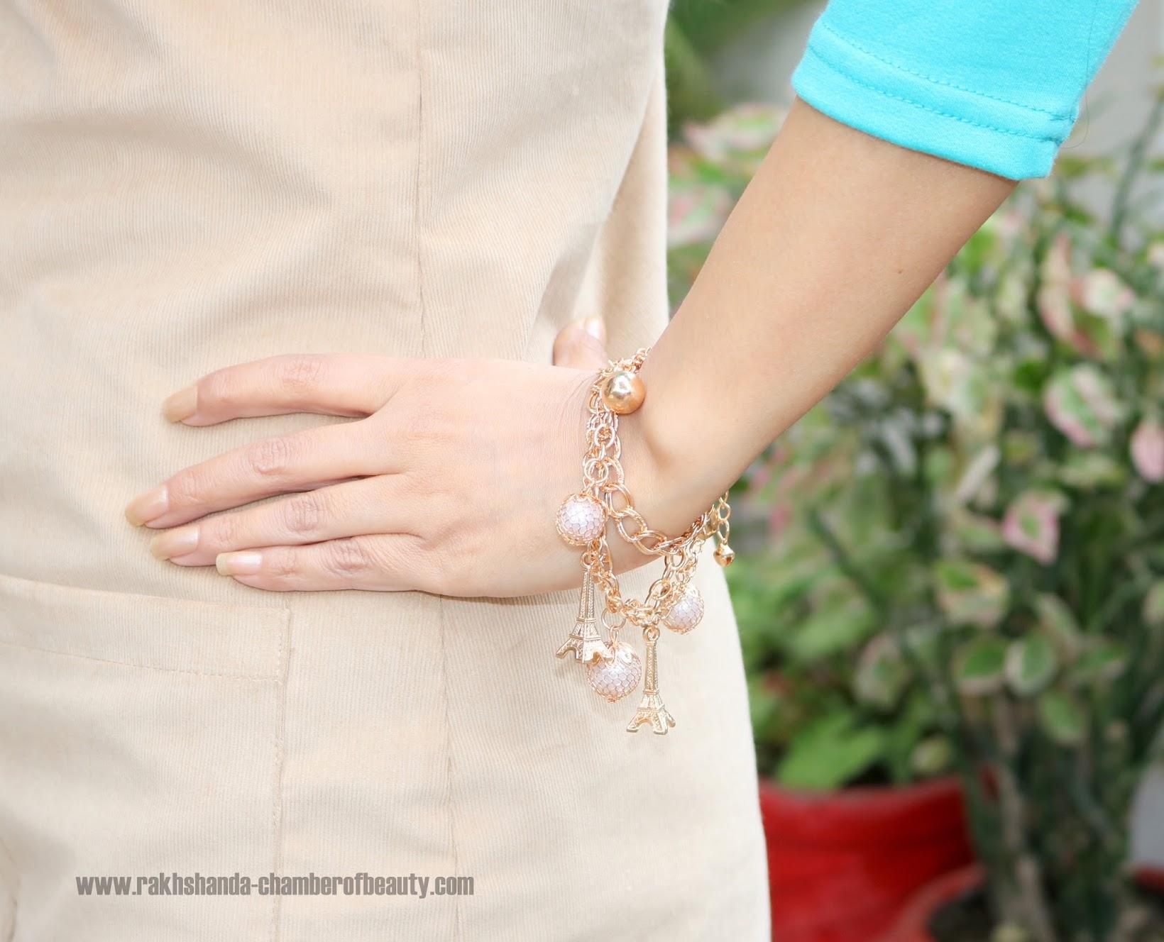 Goldtoned Charm bracelet Voylla.com, Jewelry shopping from Voylla.com, fashion jewelry online India