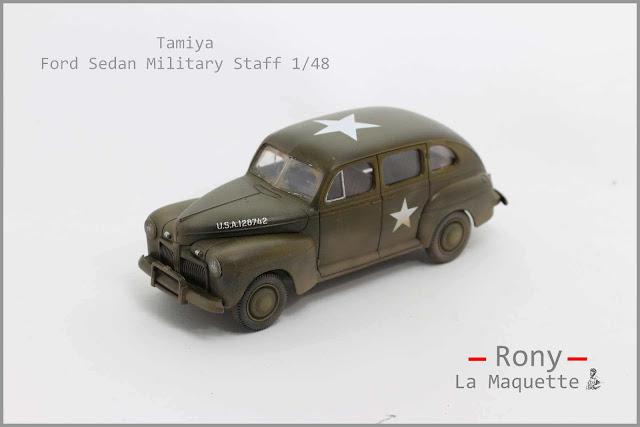 Maquette de la Ford Sedan U.S Army Military Staff de Tamiya au 1/48.