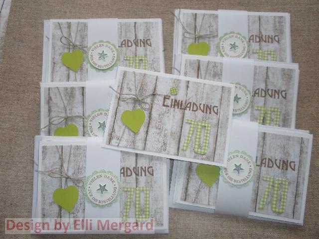 ellis eventkarten: tischkarten zum 70. geburtstag