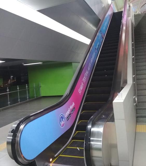 Install Escalator Stickers