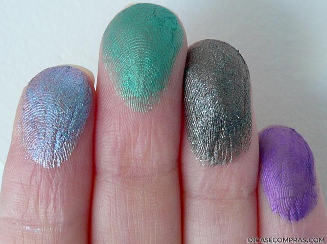 Audacious Asphalt, Edgy Emerald, Mauve Crush, Painted Purple,