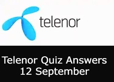 Today Telenor Quiz 12 September
