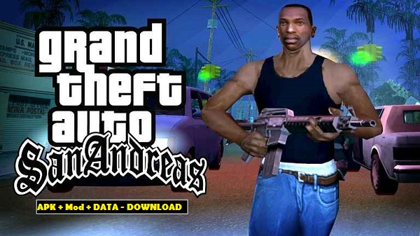 Download GTA San Andreas APK Mod Data Android Game Cheats