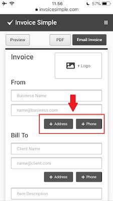 Cara Membuat Invoice di HP