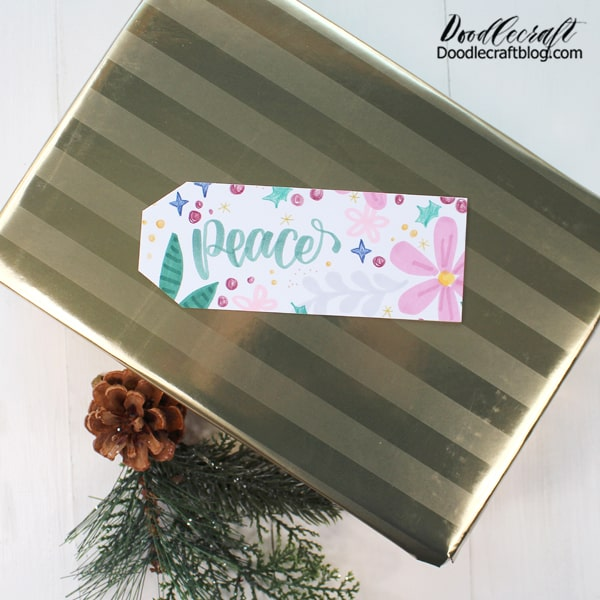 But this is the perfect holiday palette! All the supplies together make the perfect Christmas gift tags. There's greens, pinks, red, blue, yellow and gray!