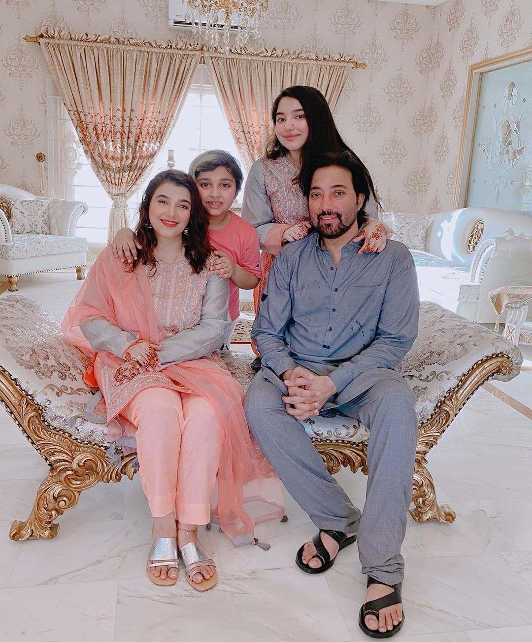 Javeria Saud Having Fun on Eid with her Family