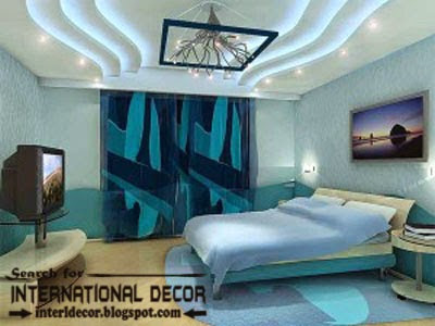False Ceiling Designs Of Plasterboard With Lighting