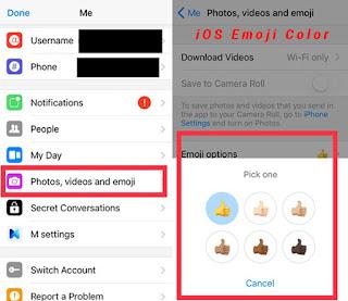 iOS app emoji skin color