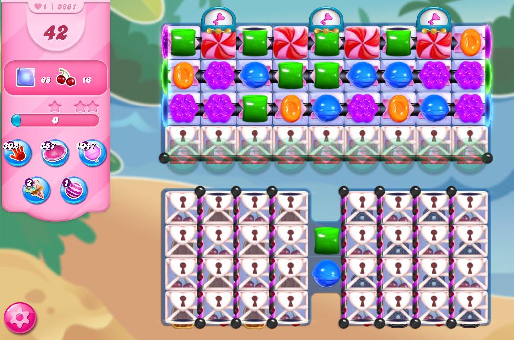 Candy Crush Saga level 8681