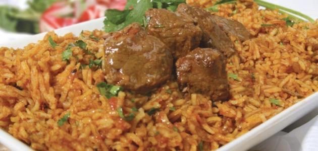 طريقة عمل كبسة اللحم بالرز المصرى
