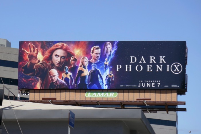 Dark Phoenix movie billboard