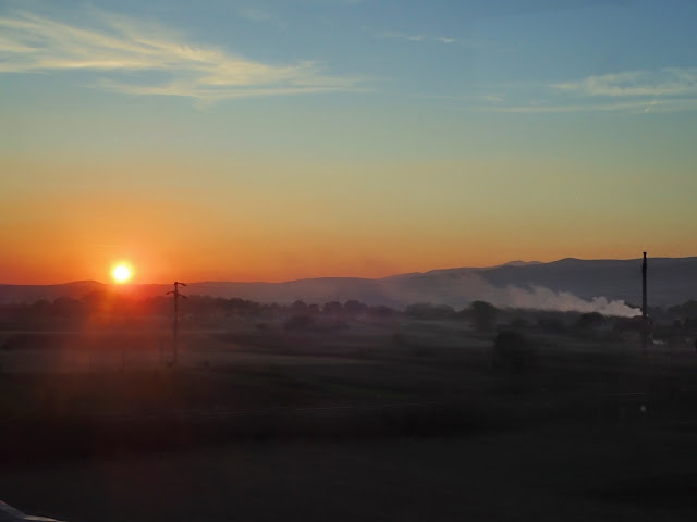 Zachód słońca gdzieś w Serbii