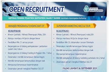 Lowongan Kerja Karyawan Kopontren Daarut Tauhid Bandung