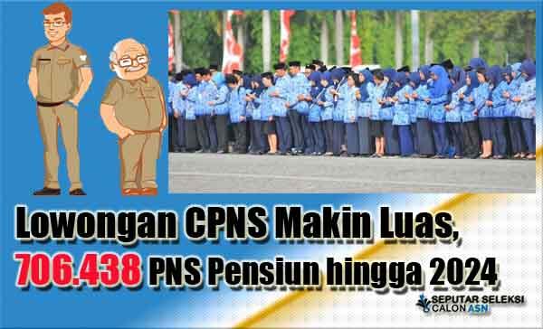 Lowongan CPNS Makin Luas, 706.438 PNS Pensiun hingga 2024