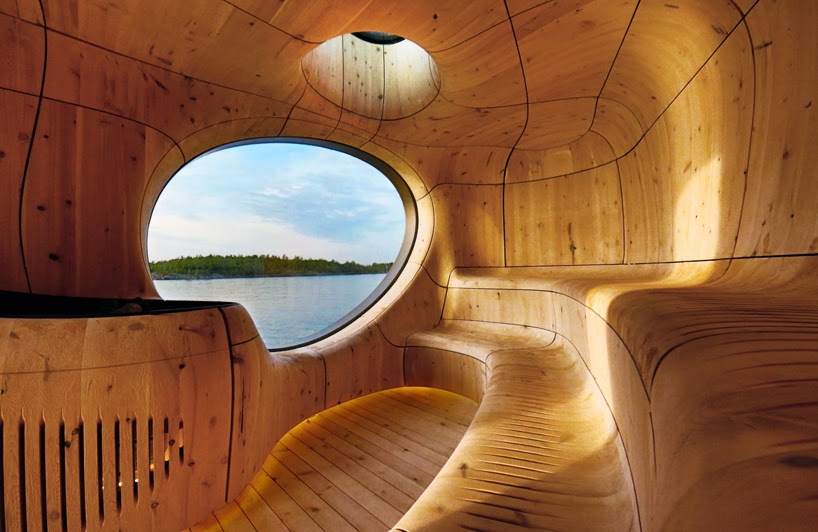 Sauna De Madera Esculpido Cuidadosamente Quiero Mas Diseno - Sauna-madera