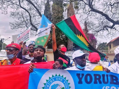Photos from IPOB and Oduduwa Republic Independence Day protests