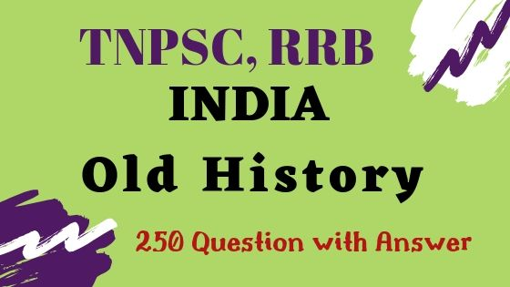 India Old History One Word Question and Answer