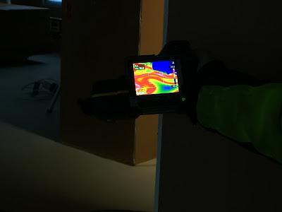 tiiveysmittaus, lämpökamera tiiveysmittauksessa