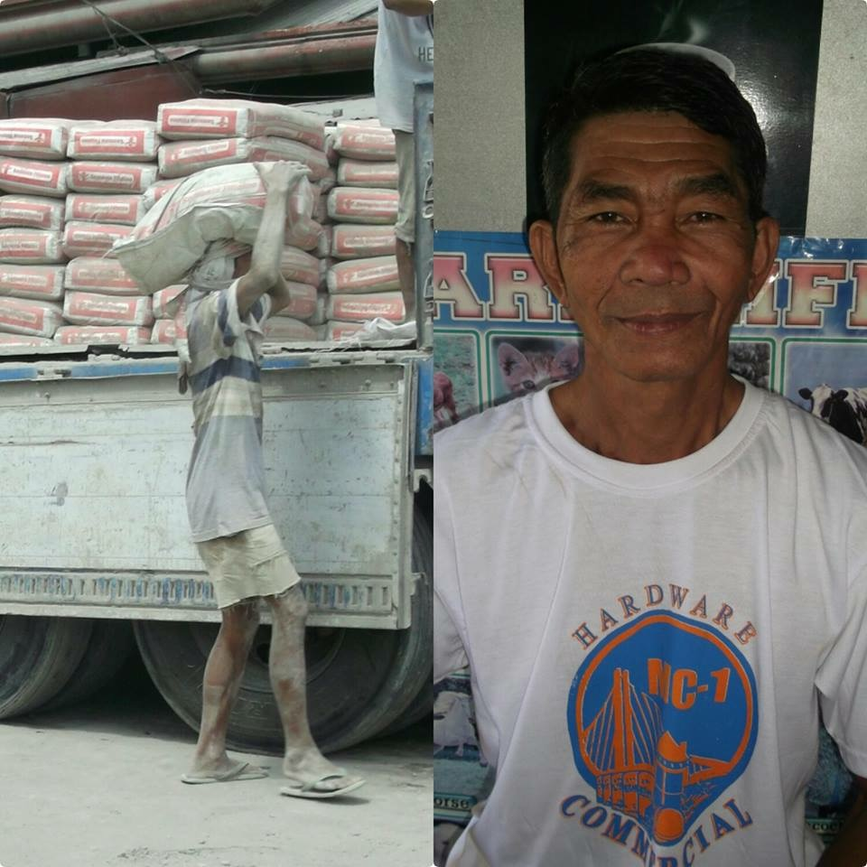 Akoy's father worked hard as a laborer