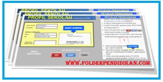 Aplikasi Cetak Kartu NISN SD SMP dan SMA