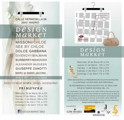 """Design Market MAD.   El """"Happening de Moda"""" que conmociona Madrid. Desde el miercoles 30 de Marzo."""
