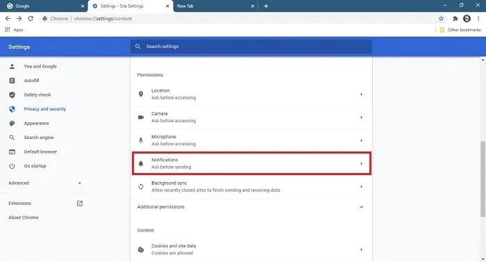 كيفية إيقاف إخطارات إعدادات سطح المكتب لإشعارات Chrome