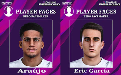 PES 2020 Faces Ronald Araujo & Eric Garcia by Bebo