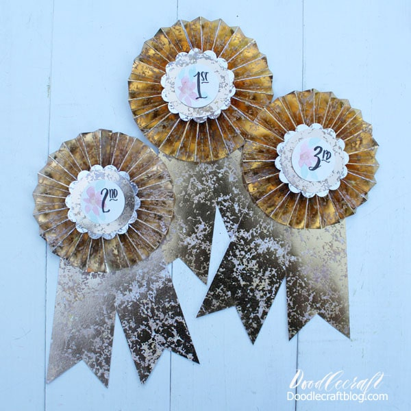 Vintage Inspired Paper Prize Ribbons DIY