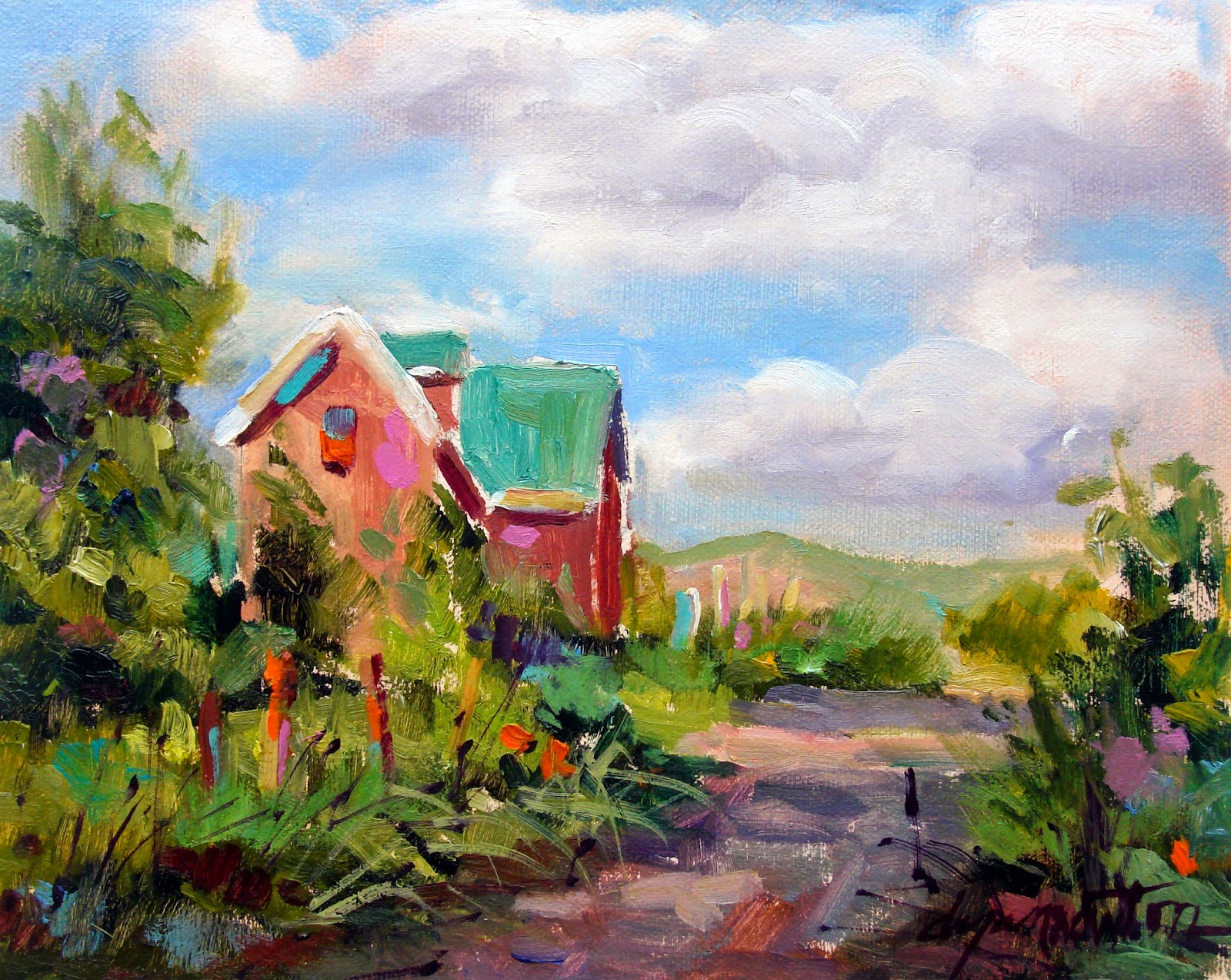 One Painting a Day: HURD COUNTRY landscape, countryside, farmhouses