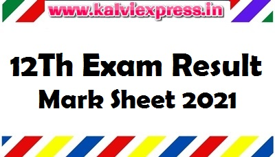 12Th Exam Result And Mark Sheet 2021