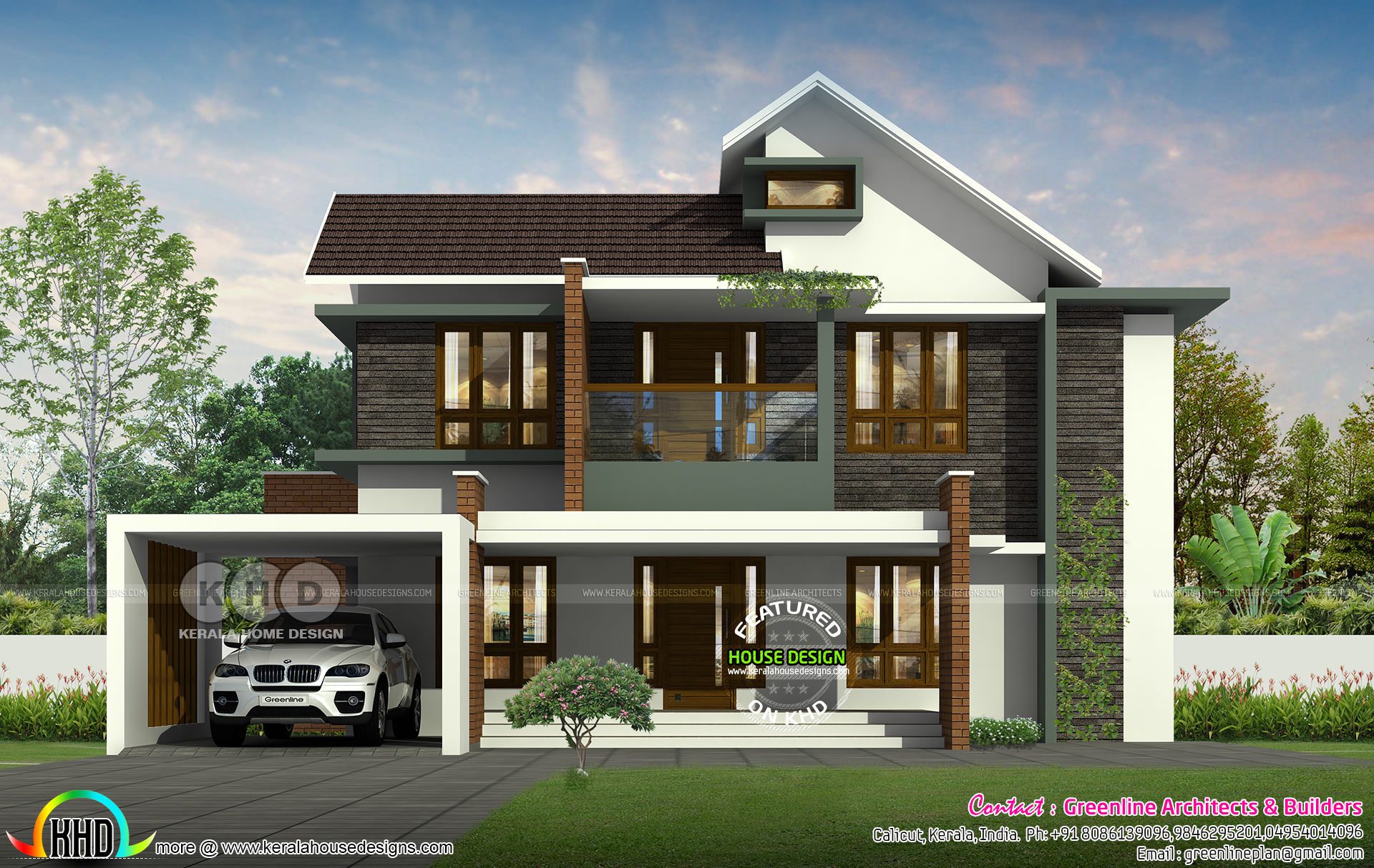 4 bedroom, 2500 sq-ft modern contemporary house - Kerala ...