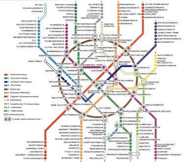 Mapa Metro de Moscú