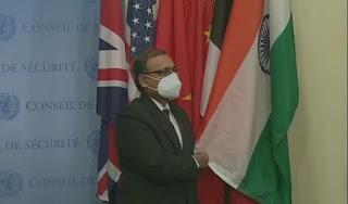 गौरवशाली पल! संयुक्त राष्ट्र सुरक्षा परिषद में लहराया भारत का तिरंगा   #NayaSaberaNetwork