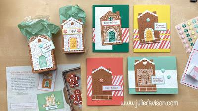 November 2020 Jolly Gingerbread Paper Pumpkin Projects ~ www.juliedavison.com #stampinup #paperpumpkin