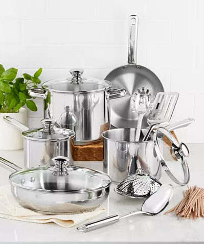 MACYS - Deal of the Day 13-Pc. Cookware Set, $29.99  Sale ends 7/8/19