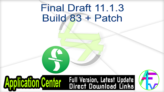 Final Draft 11.1.3 Build 83 + Patch