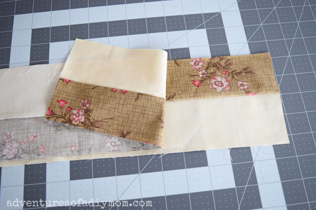 fabric strips for 4 patch