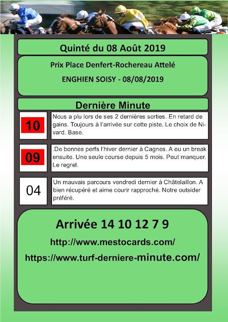 Dernière Minute Prix Place Denfert-Rochereau Attelé - ENGHIEN SOISY