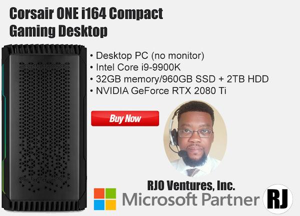 Corsair ONE i164 Compact Gaming Desktop; Featured at RJOVenturesInc.com; #richardjohn786