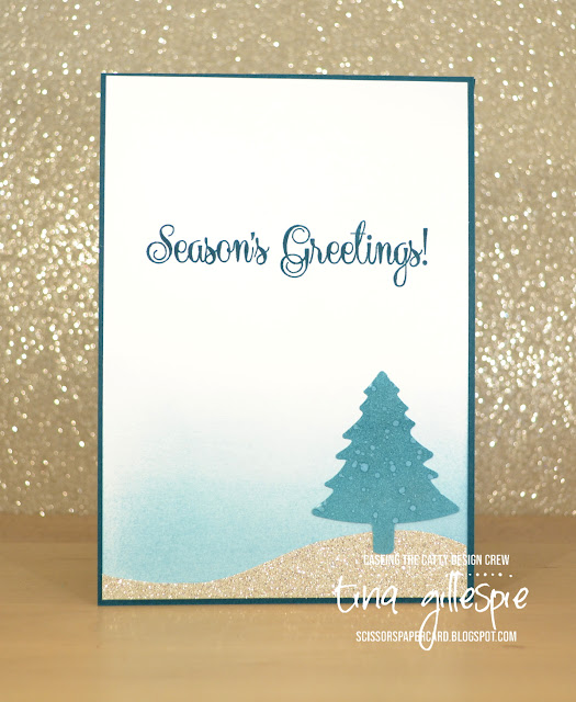 scissorspapercard, Stampin' Up!, CASEing The Catty, Detailed Deer Thinlits, So Many Stars, Pine Tree Punch, Christmas Card