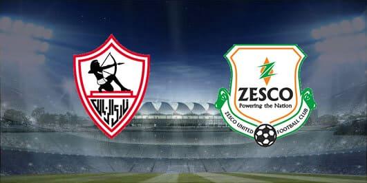 مباراة زيسكو يونايتد والزمالك بتاريخ 28-12-2019 دوري أبطال أفريقيا