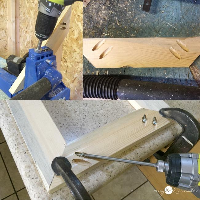 drilling mitered pocket hole corners