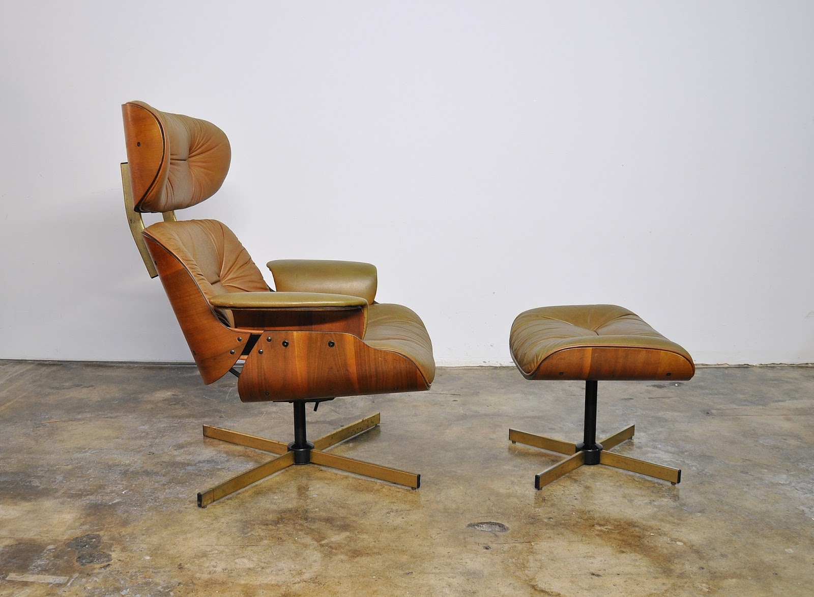 selig eames chair stressless recliner chairs select modern frank doerner style leather lounge