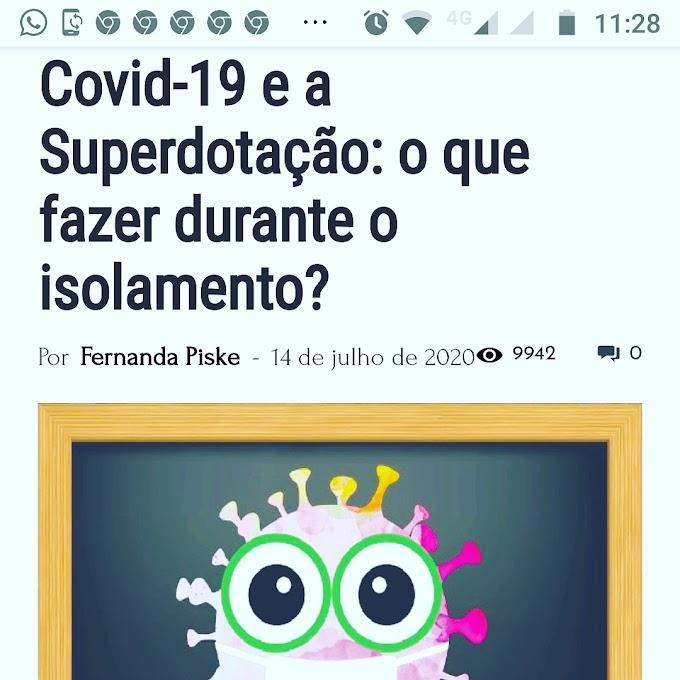 Covid-19 e a Superdotação: atividades para realizar com superdotados!