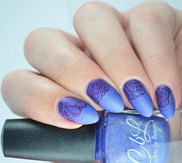 Colors by Llarowe A Lot More Help Sucking Up UberChic beauty 4-02 Sally Hansen Insta-Dri Pronto Purple