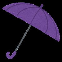傘のイラスト(紫)
