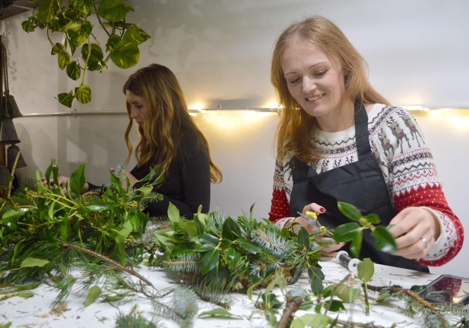Christmas Wreath Making Workshop in Newcastle