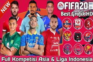 FTS Mod FIFA 20 Liga Asia & Tim Promosi Liga Indonesia 2020