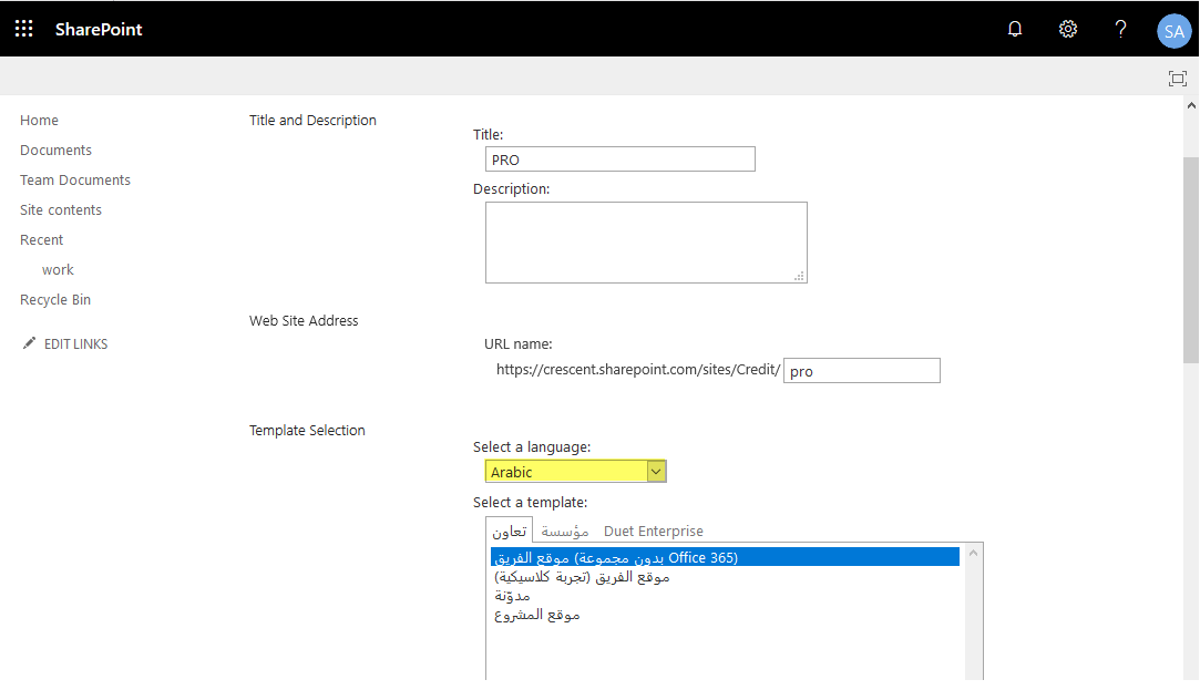 sharepoint online powershell language settings